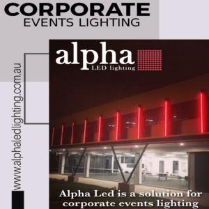corporate events lighting